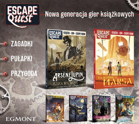 """Podejmij wyzwanie i przeżyj przygodę z grami książkowymi """"Escape Quest""""! /INTERIA.PL/materiały prasowe"""