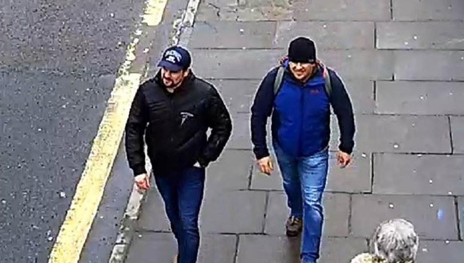 Podejrzani o zamach na Siergieja Skripala uchwyceni przez kamery monitoringu /LONDON METROPOLITAN POLICE    /PAP/EPA