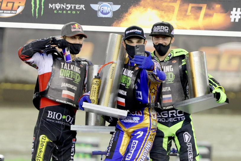 Podium Grand Prix. Maciej Janowski, Bartosz Zmarzllik, Artiom Łaguta /Łukasz Trzeszczkowski /Newspix