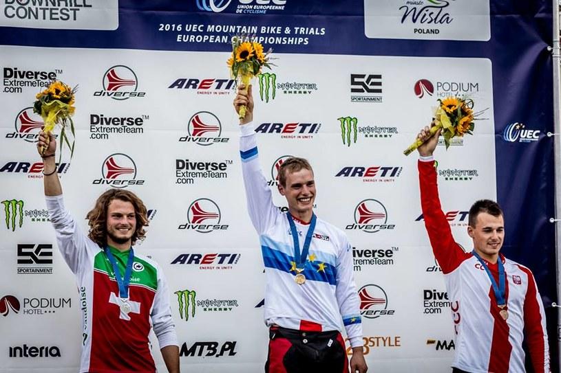 Podium mistrzostw Europy - Diverse Downhill Contest /Fot. Piotr Staroń/Sportainment /