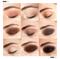 Podkreślone oko z cieniami w kredce Magnetic Eye Matte od Nudestix