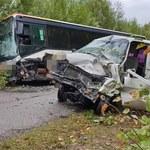 Podlasie: Zderzenie autobusu szkolnego z busem