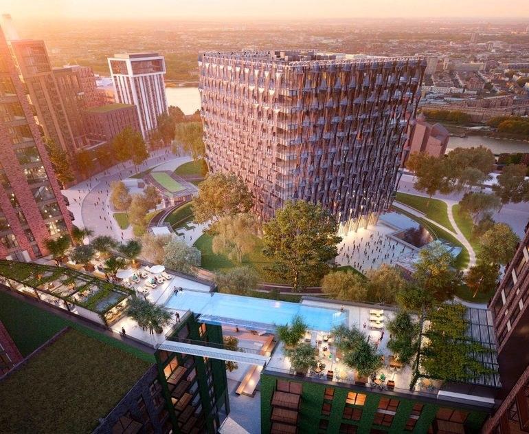 Podniebny basen będzie ulokowany w luksusowym kompleksie mieszkalnym Embassy Gardens /materiały prasowe