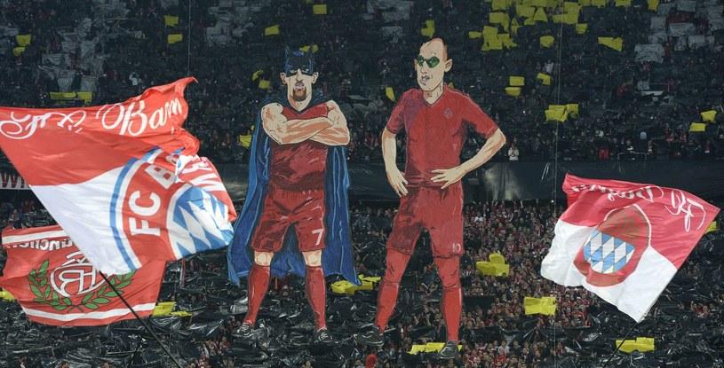 Podobizny Francka Ribery'ego (z lewej) i Arjena Robbena /AFP
