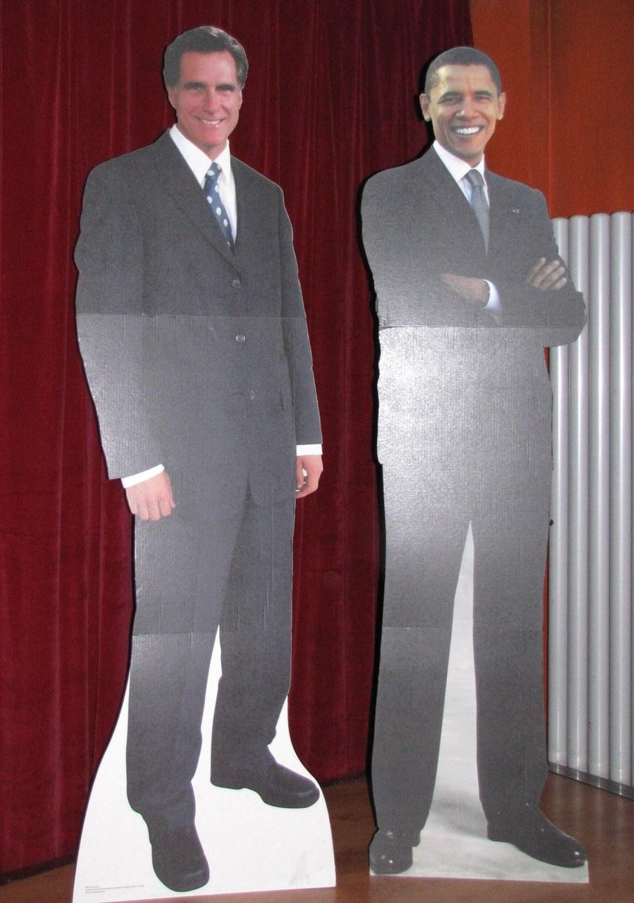 Podobizny Obamy i Romneya /Maciej Grzyb /RMF FM