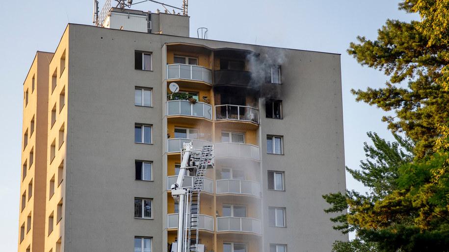 Podpalone mieszkanie w Bohuminie /Vladimir Prycek /PAP/EPA