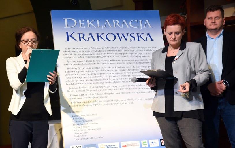 """Podpisanie """" Deklaracji Krakowskiej """" /Marek Lasyk/REPORTER  /East News"""
