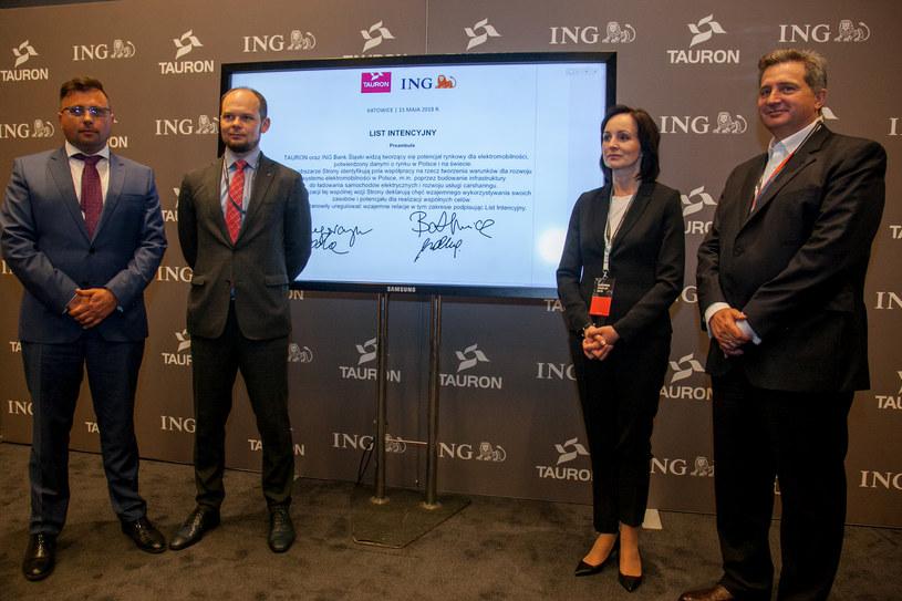 Podpisanie listu intencyjnego przez Tauron Polska Energia oraz ING Bank Śląski /Ireneusz Rek /123RF/PICSEL