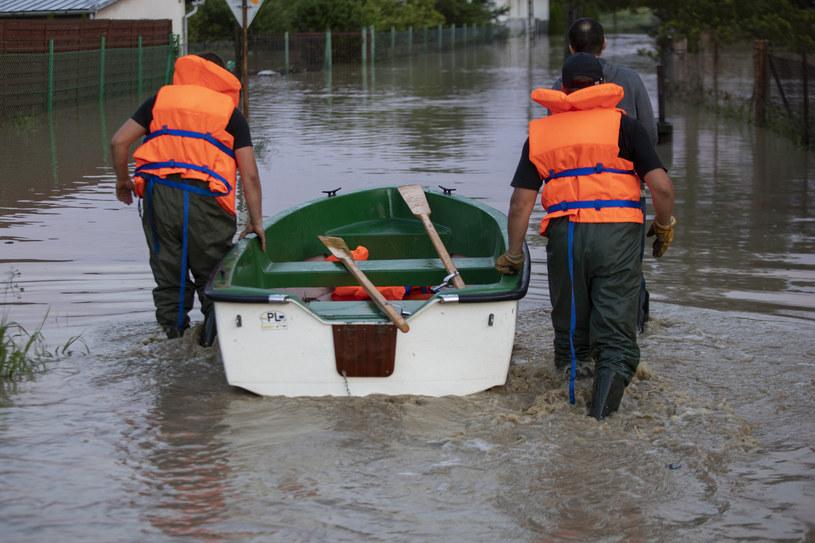 Podtopienia i zalania na skutek nawałnicy na Podkarpaciu /Grzegorz Bukala/REPORTER /East News