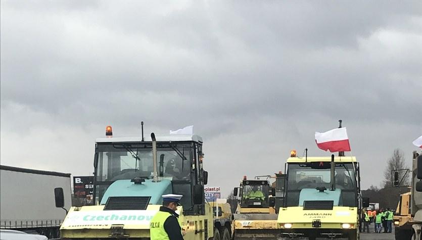 Podwykonawcy Salini protestują na DK1