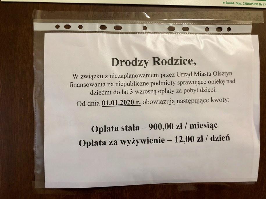 Podwyżki w niepublicznych żłobkach w Olsztynie /Piotr Bułakowski /RMF FM