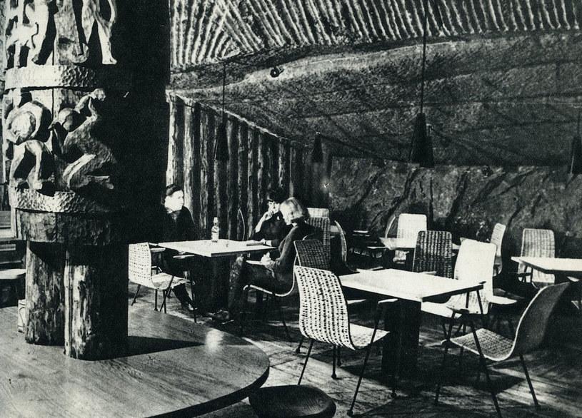 Podziemna kawiarnia w 1966 roku, fot. Magdalena Rusinek, Muzeum Żup Krakowskich Wieliczka /materiały prasowe