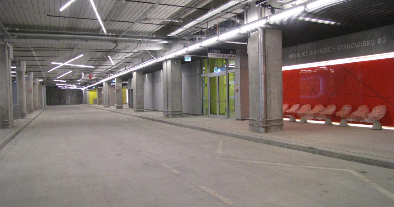 Podziemny dworzec autobusowy w Katowicach