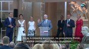 """""""Podziwiamy Polskę jako wspaniały przykład odwagi, wytrwałości oraz odporności"""". Książę William wygłosił przemowę w Łazienkach Królewskich"""