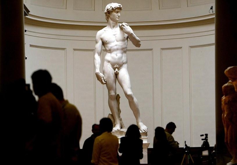 """Podziwianie rzeźby Dawida Michała Anioła może zamienić się w koszmar - zauważył dziennik """"La Stampa"""" /VINCENZO PINTO /AFP"""