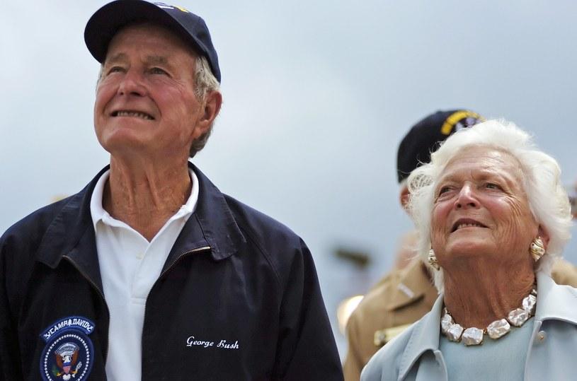 Pogarsza się stan zdrowia byłej pierwszej damy Barbary Bush /Gary Knapp  /AFP