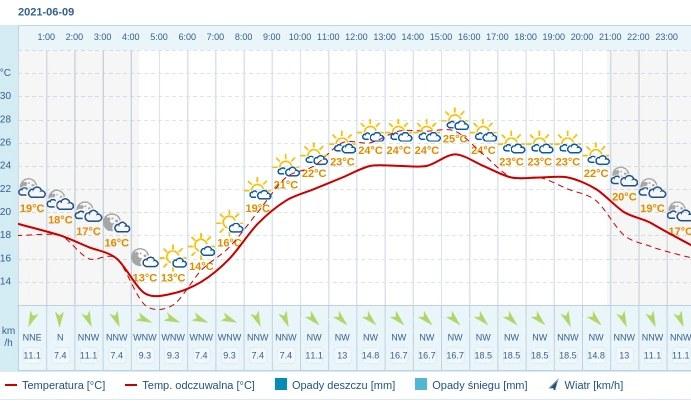 Pogoda dla Warszawy na 9 czerwca 2021 /INTERIA.PL