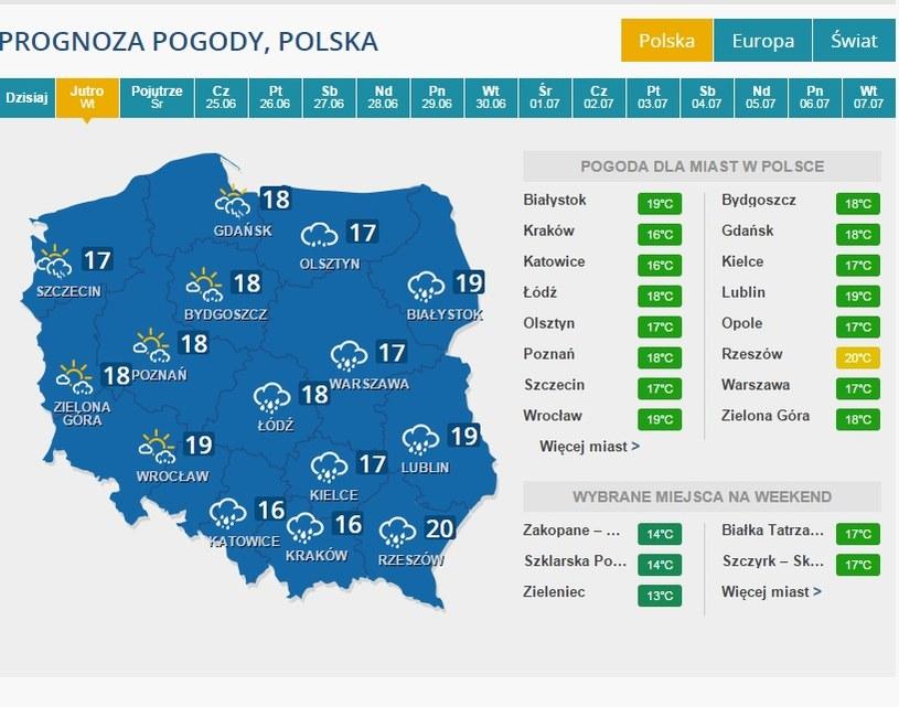 Pogoda na 23 czerwca /INTERIA.PL