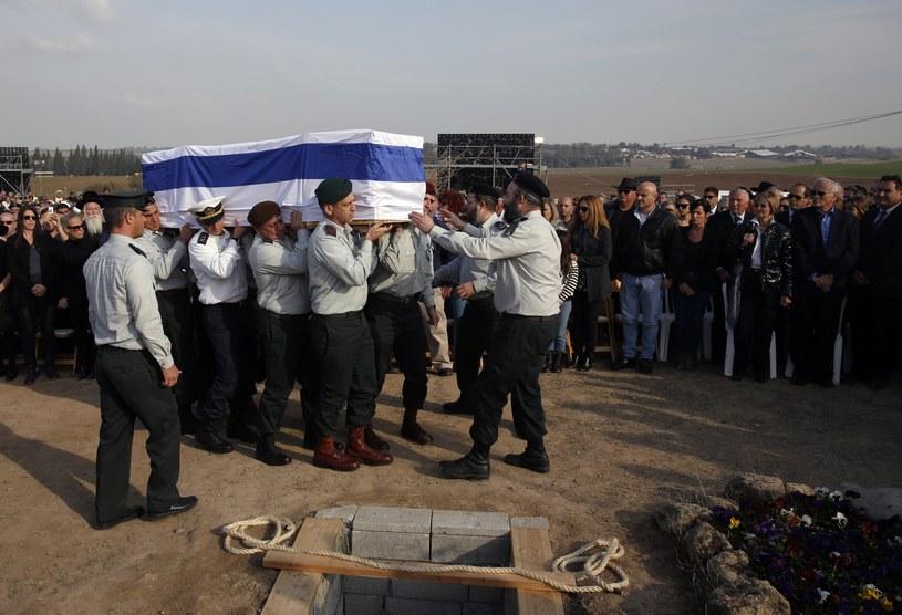 Pogrzeb Ariela Szarona /AFP