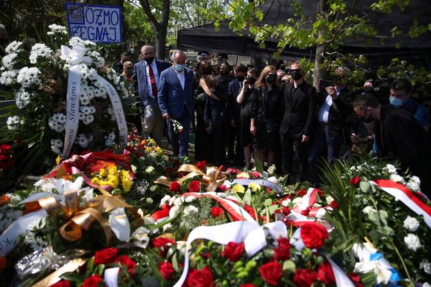 Pogrzeb Bronisława Cieślaka na Cmentarzu Podgórskim w Krakowie /Łukasz Gągulski /PAP