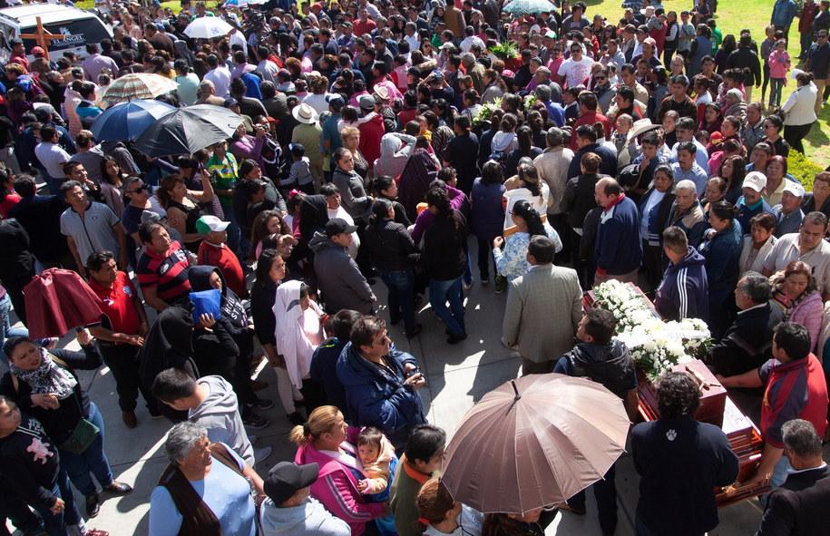 Pogrzeb części ofiar eksplozji /MLA /PAP/EPA