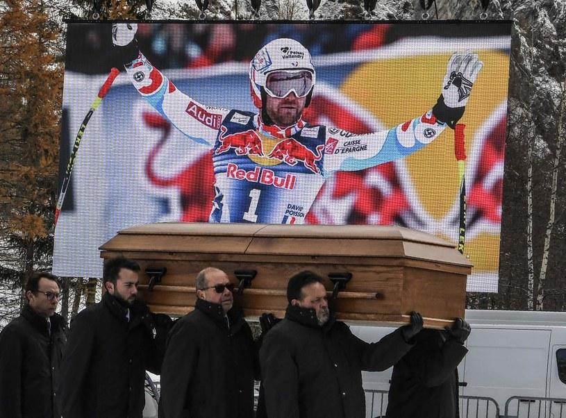 Pogrzeb Davida Poissona, który zginął w listopadzie /AFP