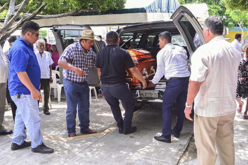 Pogrzeb dziennikarza zamordowanego w Meksyku w grudniu ub.r. /Carlos PEREZ /AFP