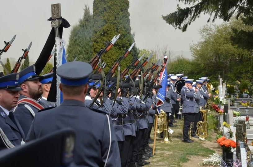 Pogrzeb funkcjonariusza, który zginął w wypadku /Policja