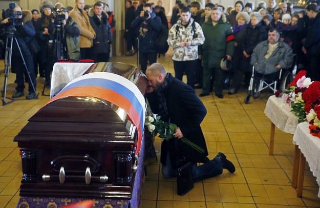 Pogrzeb Jelizawiety Glinki w Moskwie /PAP/EPA/SERGEI CHIRIKOV  /PAP/EPA