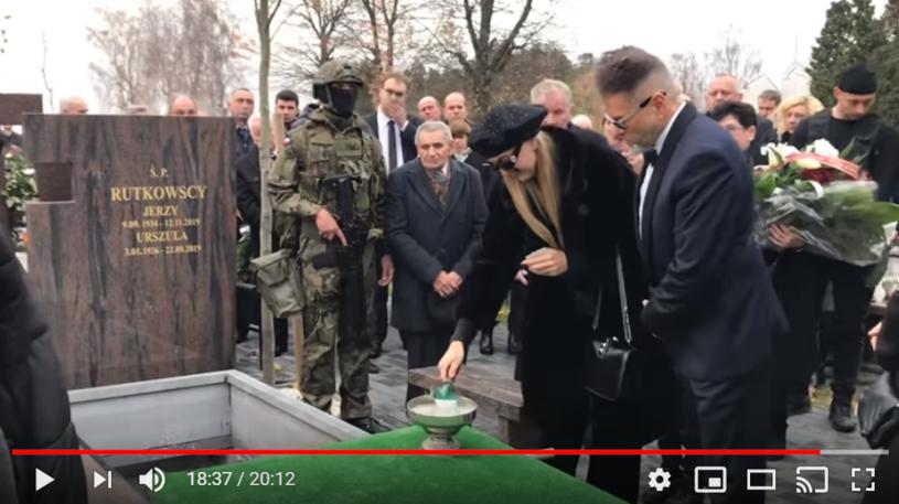Pogrzeb ojca Krzysztofa Rutkowskiego /YouTube.com /
