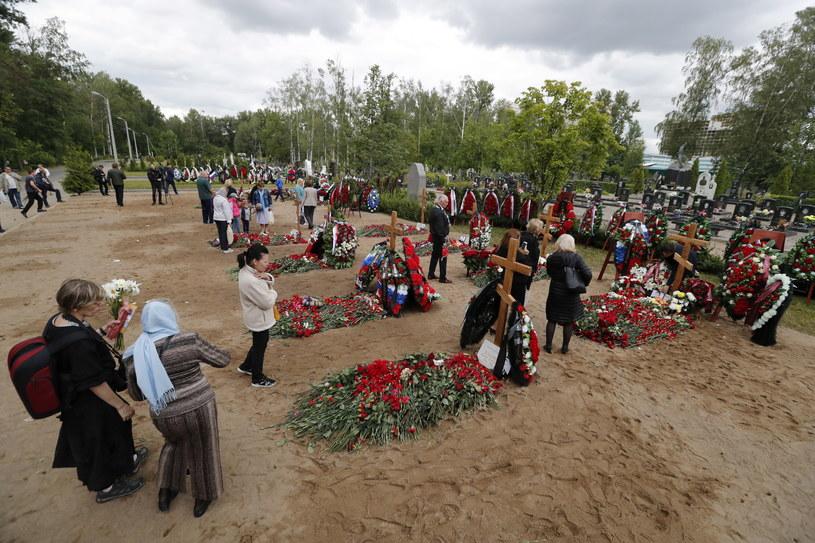 Pogrzeb rosyjskich marynarzy /PAP/EPA