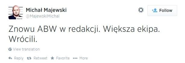 """Poinformował o tym dziennikarz """"Wprost"""" /Twitter"""