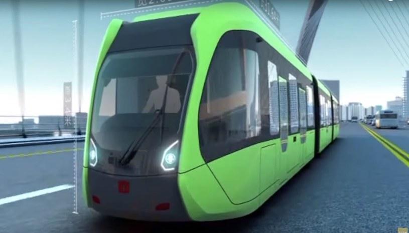 Pojazd jest połączeniem tramwaju, pociągu i autobusu /YouTube