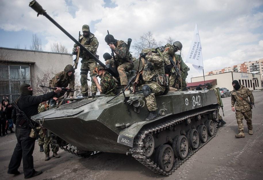 Pojazdy opancerzone ukraińskich sił zbrojnych /ROMAN PILIPEY /PAP/EPA