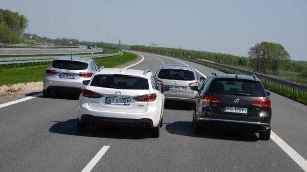 Pojedynek czterech kombi klasy średniej, czyli nowa Mazda 6 kontra renomowani rywale, napędzani silnikami wysokoprężnymi. /Motor