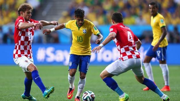 Pojedynki Neymara z Chorwatami śledziło na kanałach TVP średnio 5,38 mln widzów / fot. Warren Little /Getty Images