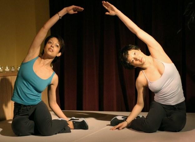 Pokaz ćwiczeń Pilates w Nowym Jorku. /Getty Images/Flash Press Media