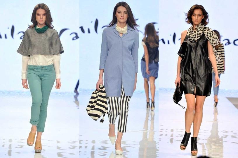 Pokaz mody kolekcji wiosna/lato 2014 marki Manila Grace /Jacek Kurnikowski /AKPA