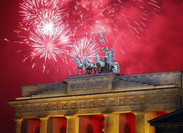 Pokaz sztucznych ogni, Berlin 01.01. 2014 /Garbage/ AP /East News