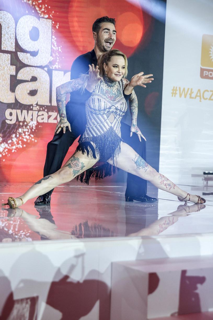 Pokaz tańca na prezentacji ramówki Polsatu /Podlewski /AKPA