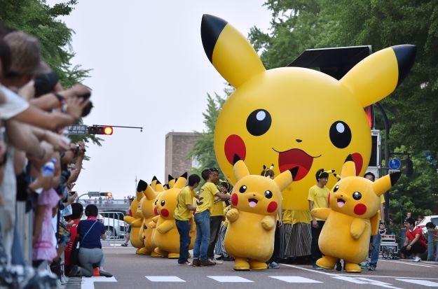 Pokemony wesoło wędrują w kierunku Hollywood /AFP