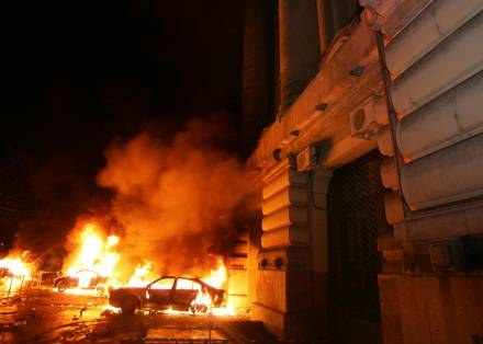 Pokojowa demonstracja przerodziła się w zamieszki /AFP