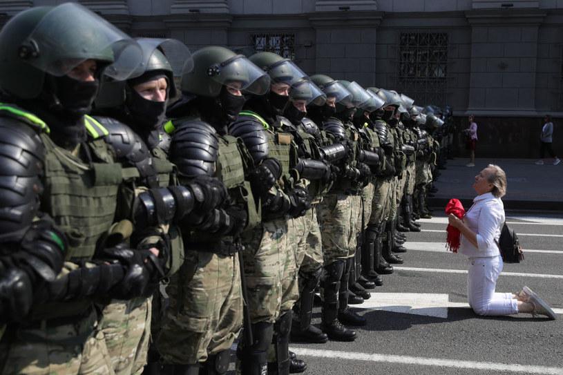 Pokojowy protest w Mińsku / Sergei Bobylev/TASS /Getty Images
