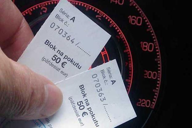 """""""Pokuta"""" ze Słowacji. 100 euro za przekroczenie prędkości o 9 km/h /INTERIA.PL"""