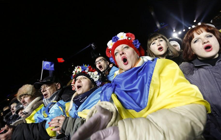 Pół miliona ludzi witało Nowy Rok na Euromajdanie /SERGEY DOLZHENKO /PAP/EPA