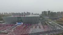 Pół miliona ludzi zebranych w jednym miejscu trenowało kung-fu