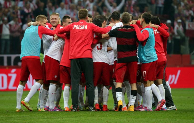 Polacy cieszą się po triumfie nad Niemcami /Bartłomiej Zborowski /PAP