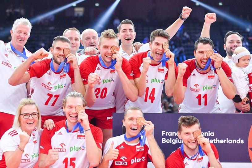 Polacy cieszą się z brązowego medalu na mistrzostwach Europy /Michał Stańczyk /Newspix