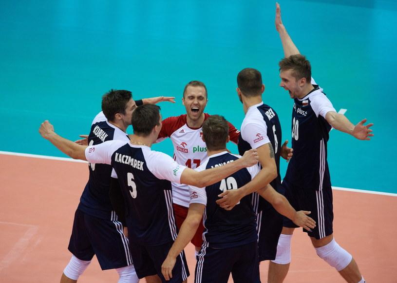 Polacy cieszą się z punktu podczas meczu z Estonią /Adam Warżawa /PAP
