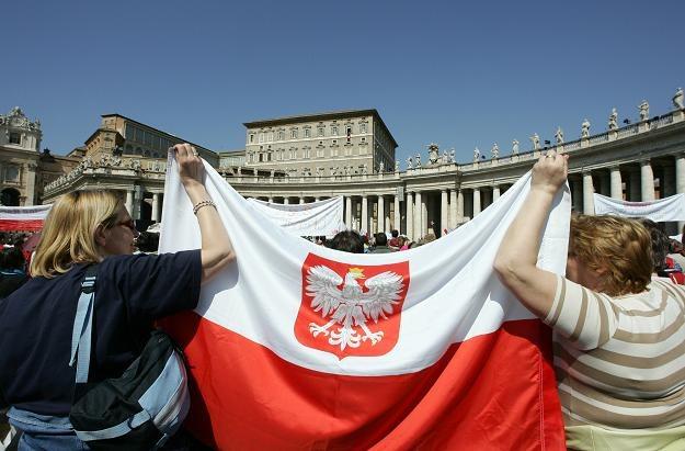 Polacy na Placu św. Piotra w Rzymie /AFP